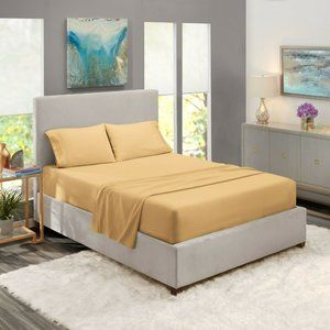 Caramel Egyptian Comfort Bed Sheets 4 Piece! Sale!